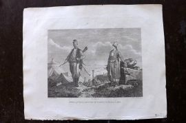 Cooke 1801 Antique Print. Natives of Caria, a Province in Anatolia in Turkey